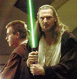 Note how Qui-Gon has gone for the beard AND girly haircut ensemble. A bold statement!